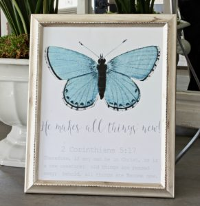 He Makes All Things New Free Butterfly Print