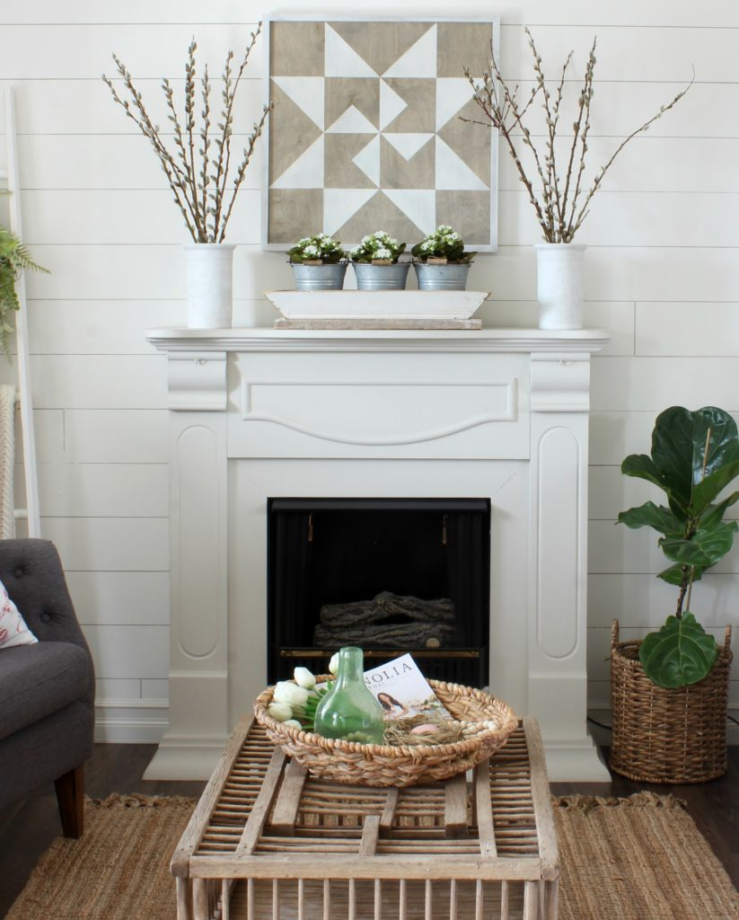 Cottage Style Home Tour - Mantel Barn Quilt