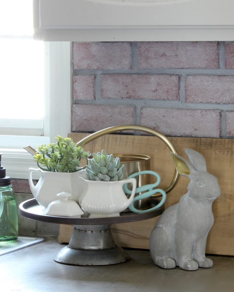 Cottage Style Spring - Succulents Ironstone