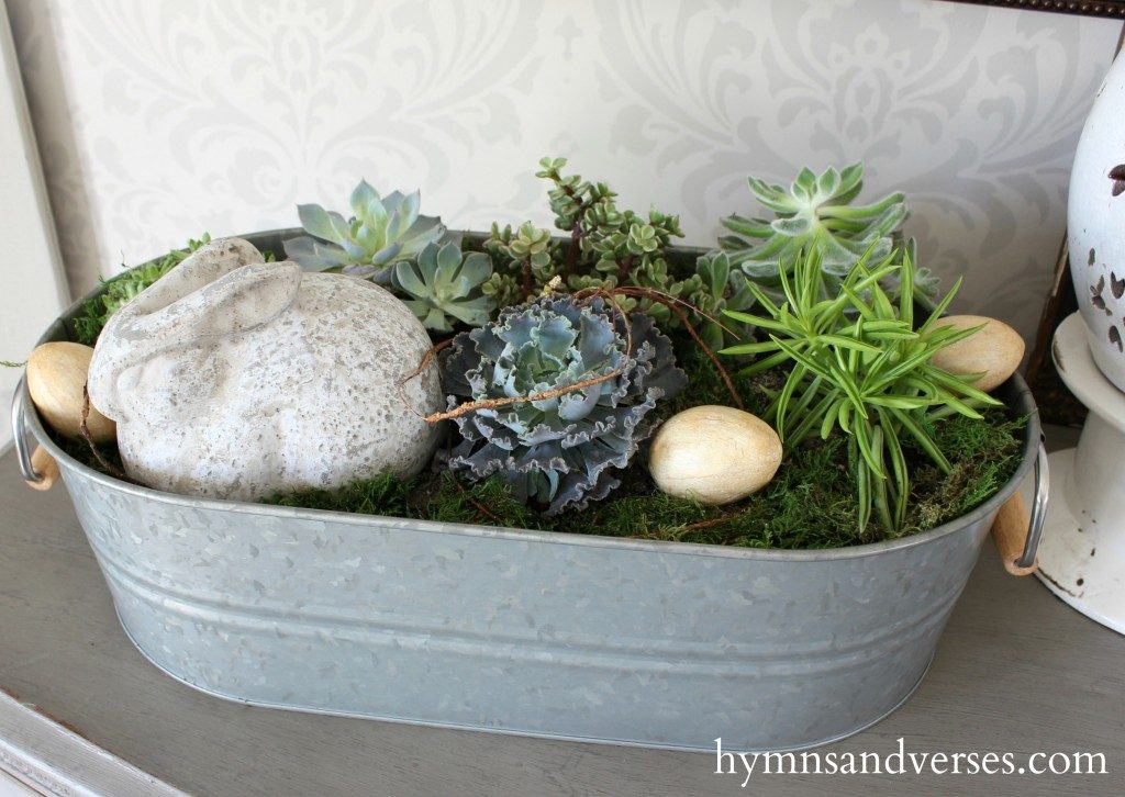 Top 10 Easter DIY Projects - Succulent Garden