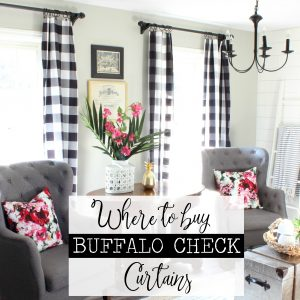 Buffalo Check Curtains - Where to Buy