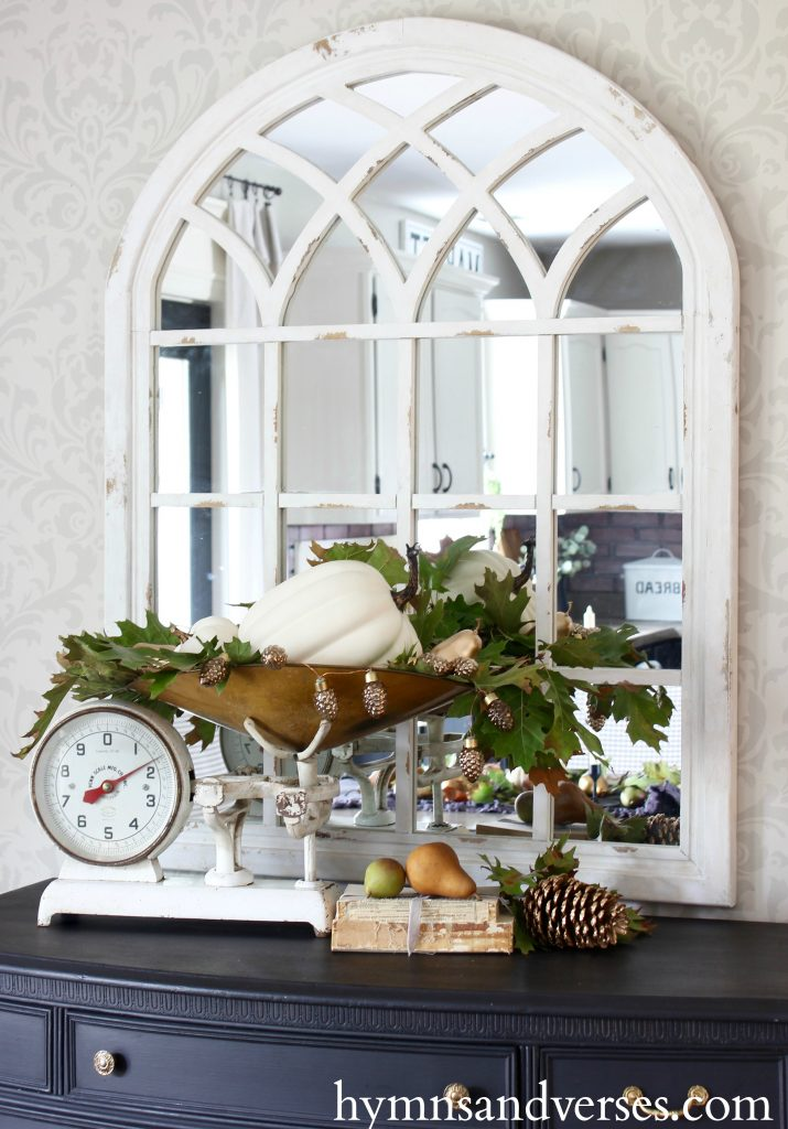 2017 Fall Home Tour - Vintage Scale with Pumpkins