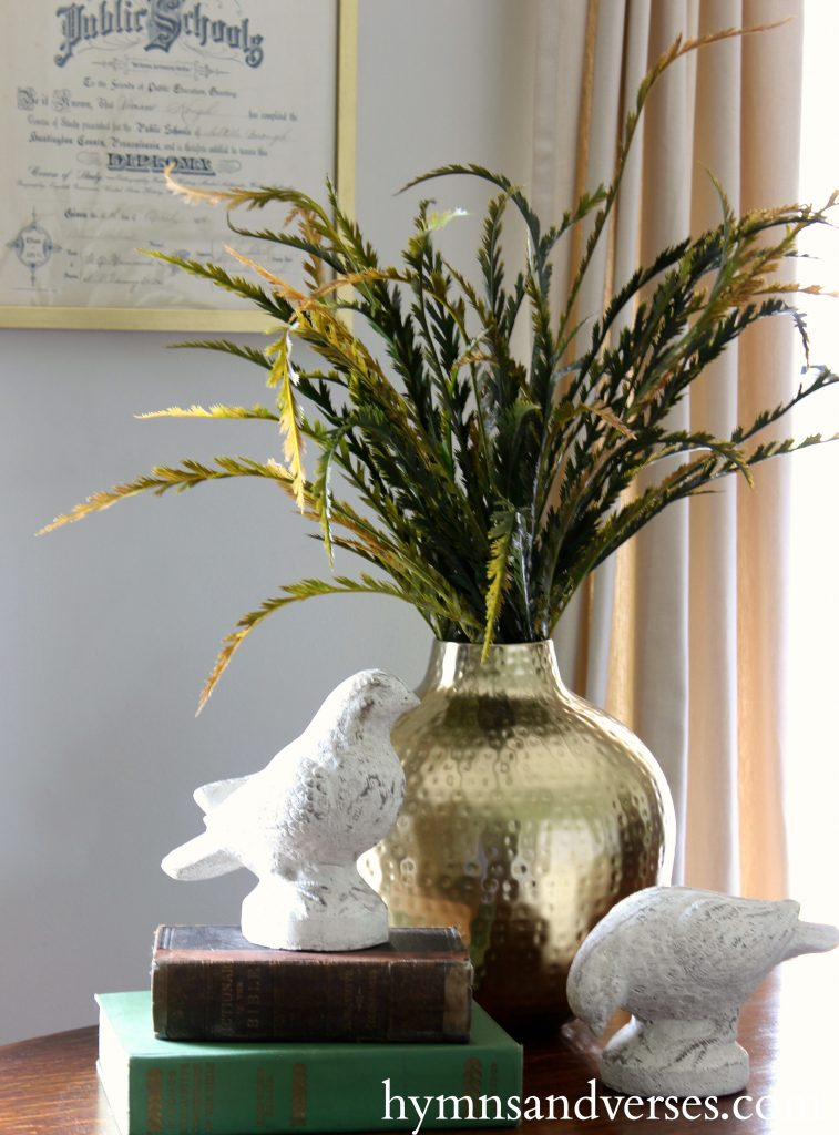 2017 Fall Home Tour - Brass Vase