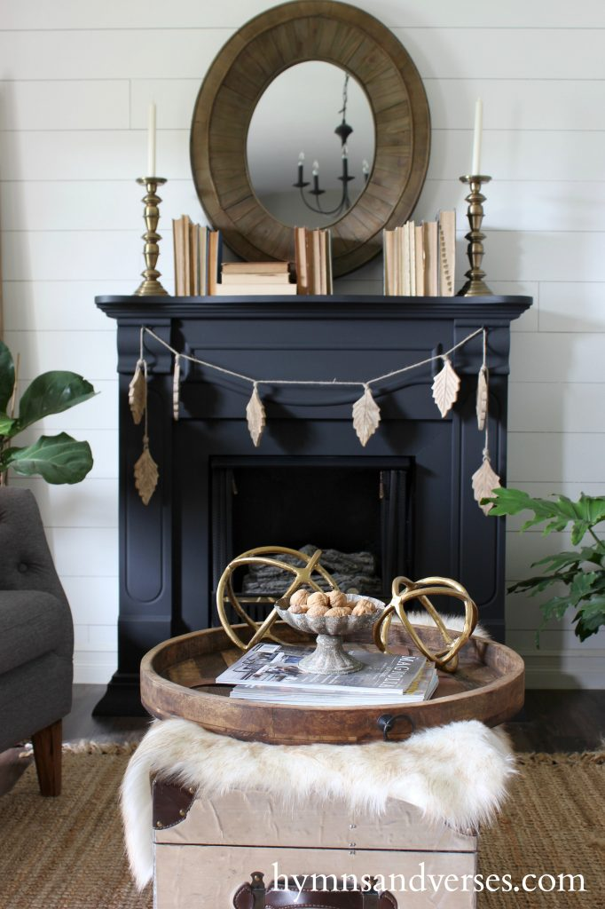 2017 Fall Home Tour - Black Fireplace Mantel