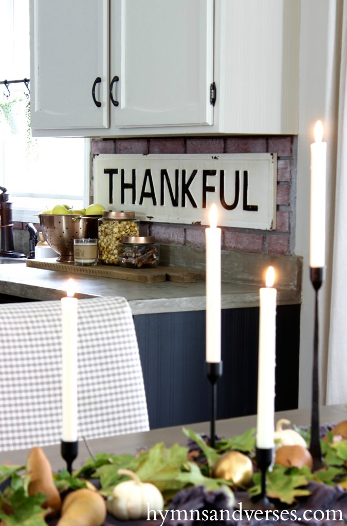 2017 Fall Home Tour - Thankful Sign