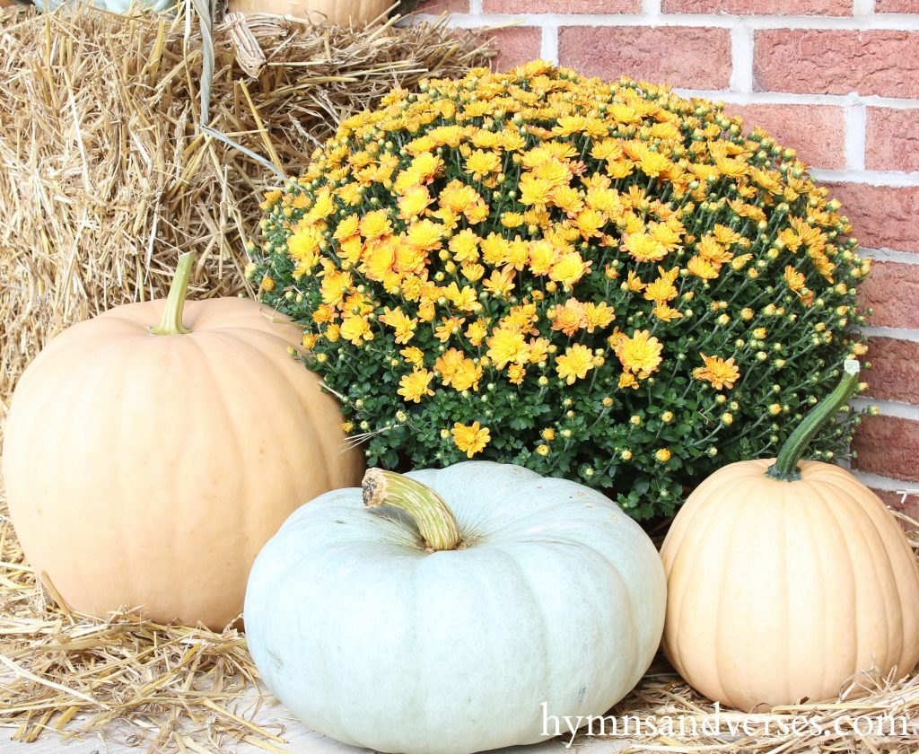 Fall Front Porch - Pale Pumpkins