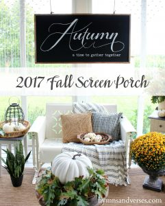 2017 Fall Home Tour - Screen Porch
