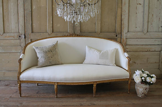 French Style Sofa Full Bloom Cottage On Etsy