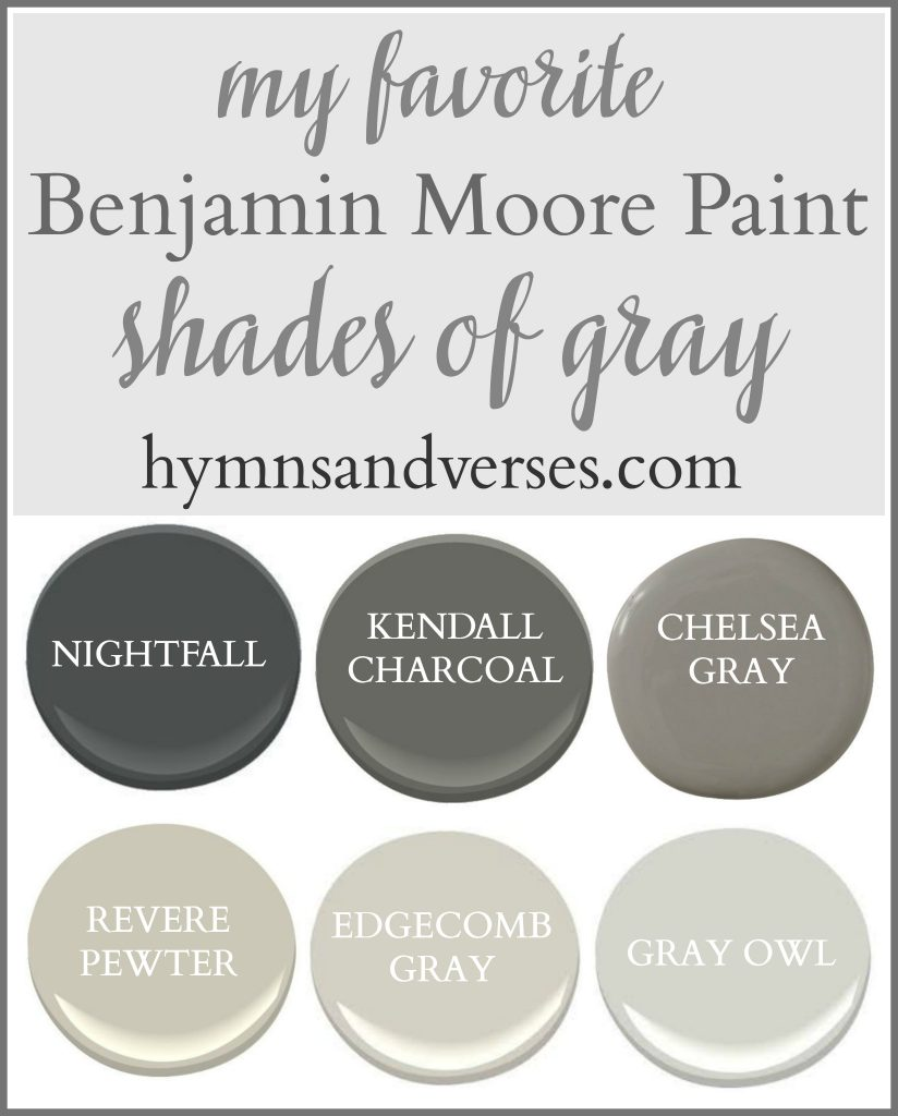 Favorite Shades of Gray - Benjamin Moore Paint