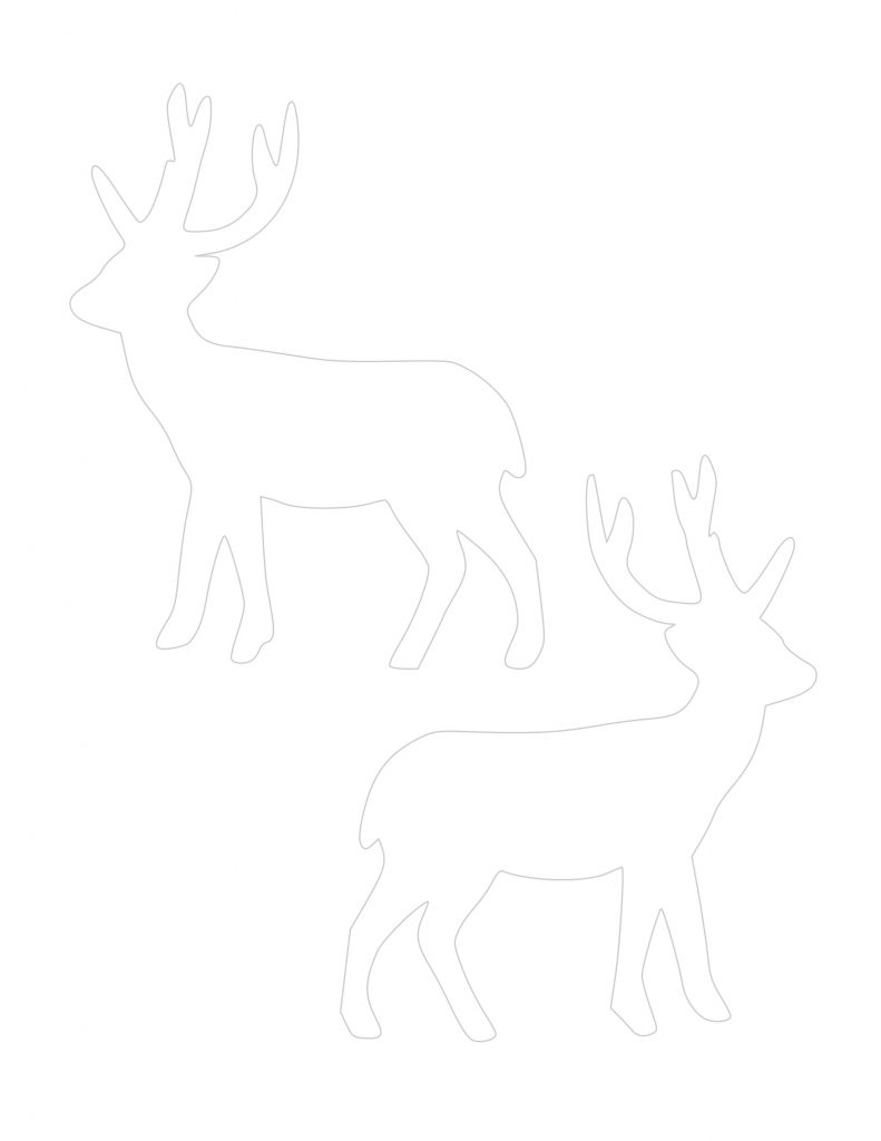deer cutout ornament template