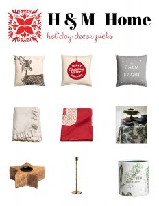H and M Holiday Home Gift Guide