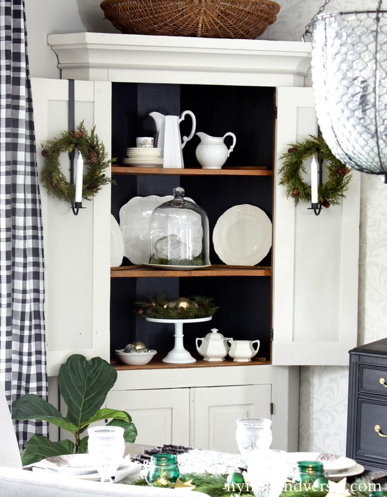 2017 Christmas Home Tour - Corner Cabinet