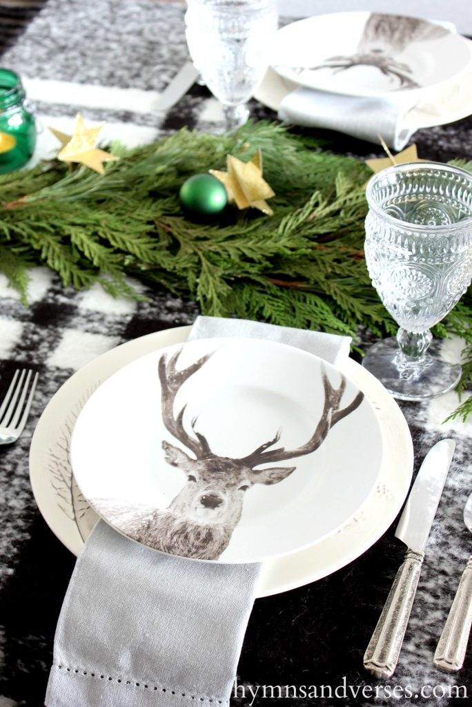 2017 Christmas Home Tour - Deer Stag Plates