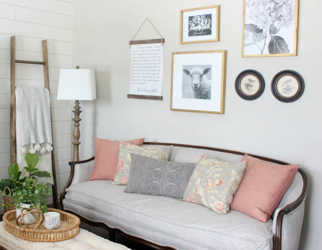 2018 Spring Home Tour - Sofa and Gallery Wall