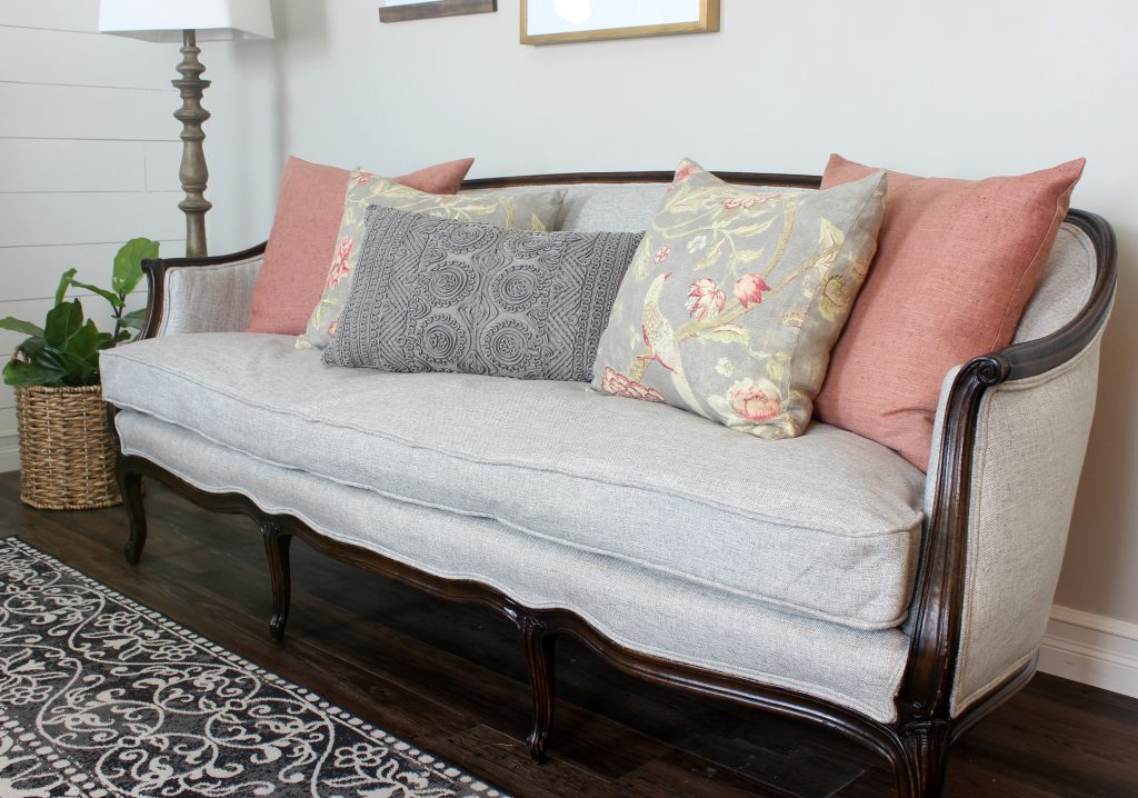 Reupholstered French Sofa
