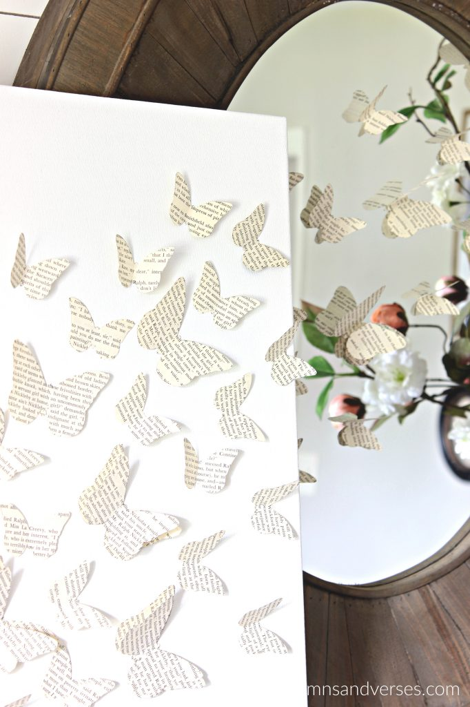 Paper Craft Butterfly Canvas Art