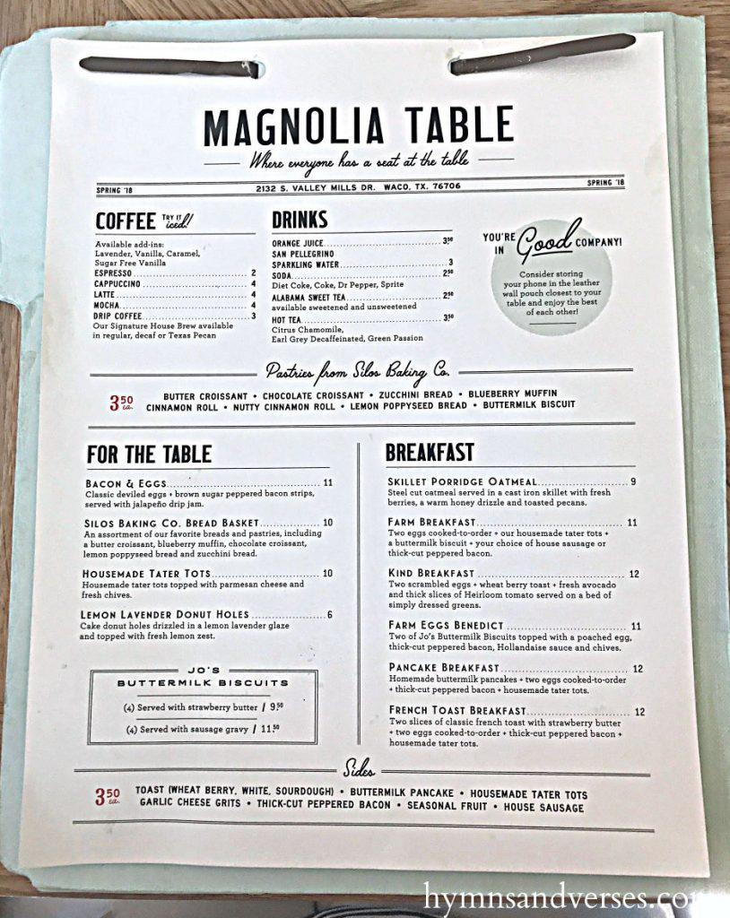 Visiting Waco Magnolia Table Hymns And Verses - Magnolia table restaurant