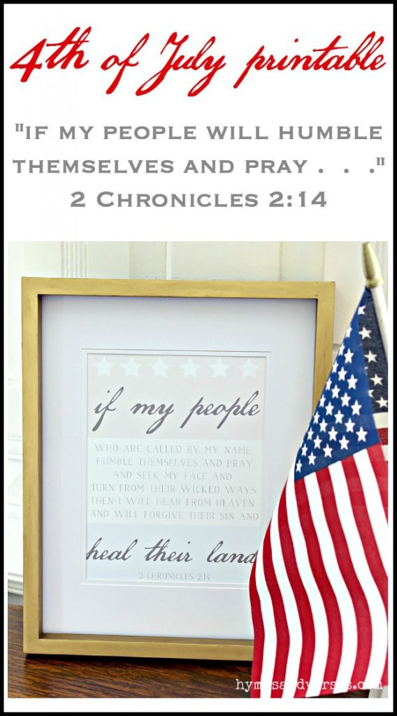 4th of July Printable - 2 Chronicles 2:14