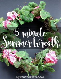 5 Minute Summer Wreath