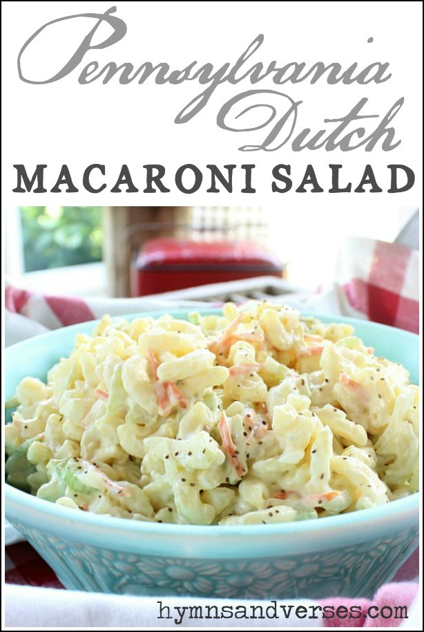 Pennsylvania Dutch Macaroni Salad