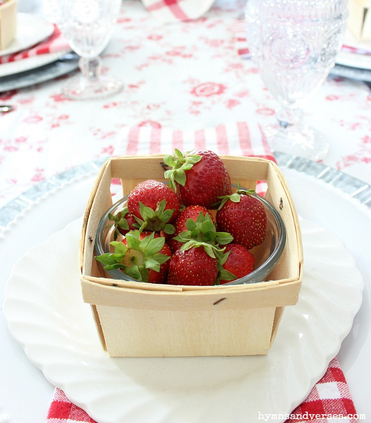 Vintage Style - Strawberry Basket Place Setting