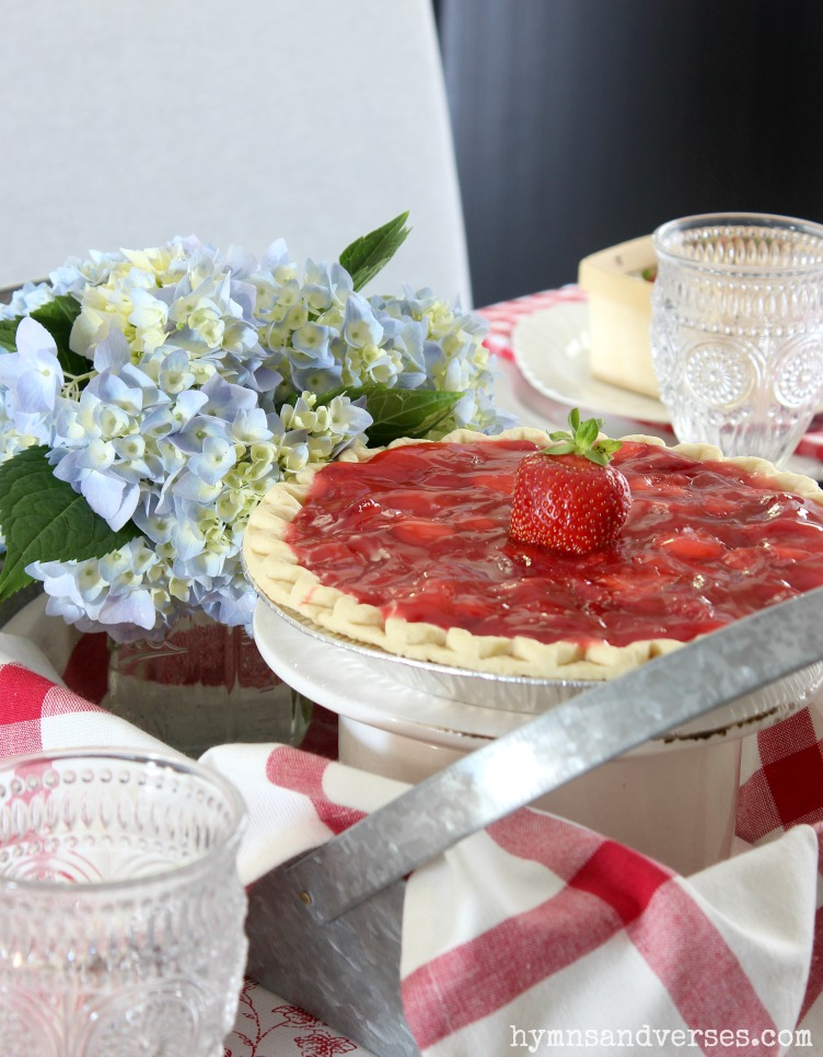 Vintage Style Home - Strawberry Pie and Hydrangeas