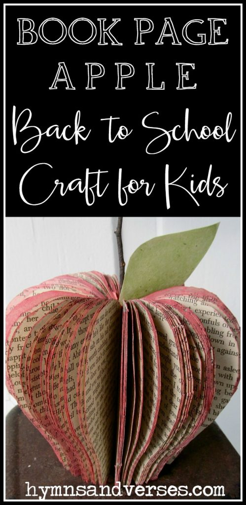 Book Page Apple - Back to School Craft