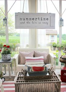 Summertime Screen Porch - Hymns and Verses