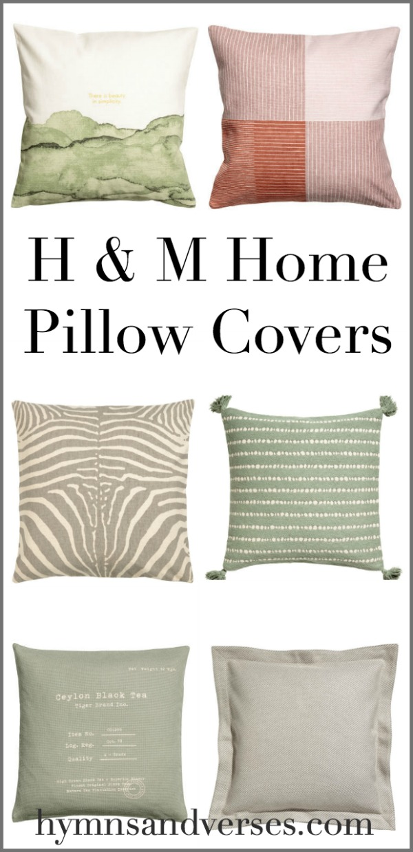 H and M Pillow Covers