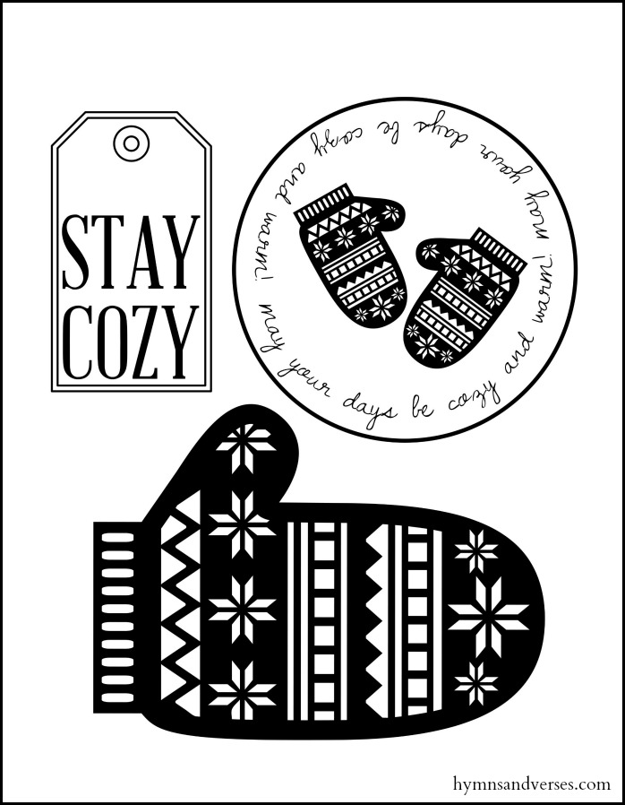 Free Printable Gift Tags for Cozy Gifts