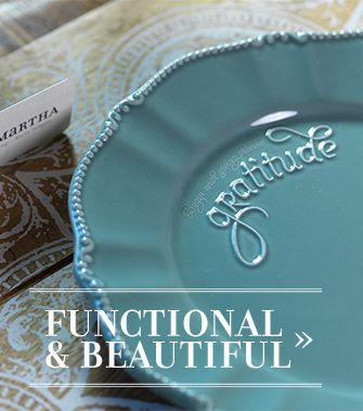 Mary and Martha Teal Gratitude Salad Plates - Birthday Giveaway