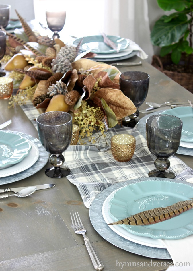 "Birthday Giveaway -- Teal Salad Plates with embossed lettering that says ""Gratitude"""