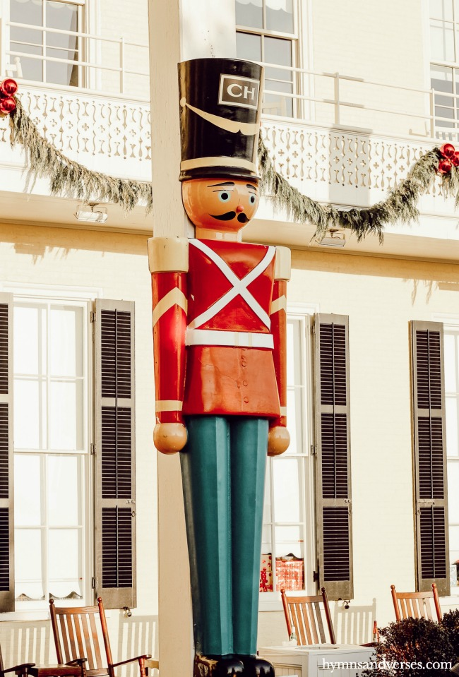 Large toy soldier at Congress Hall, Cape May, NJ at Christmas