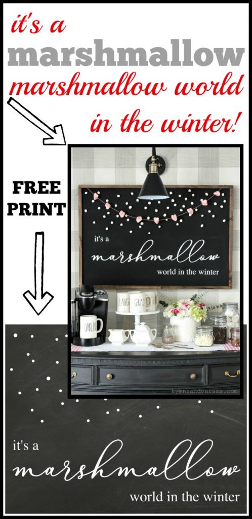Marshmallow World in the Winter Printable
