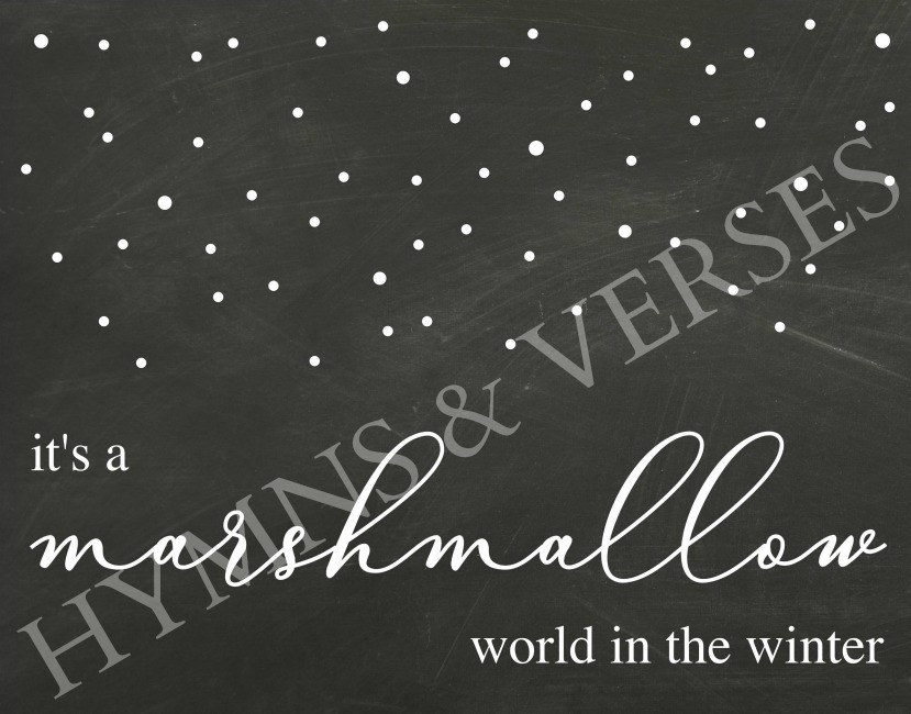 Watermarked Marshmallow World Winter Printable