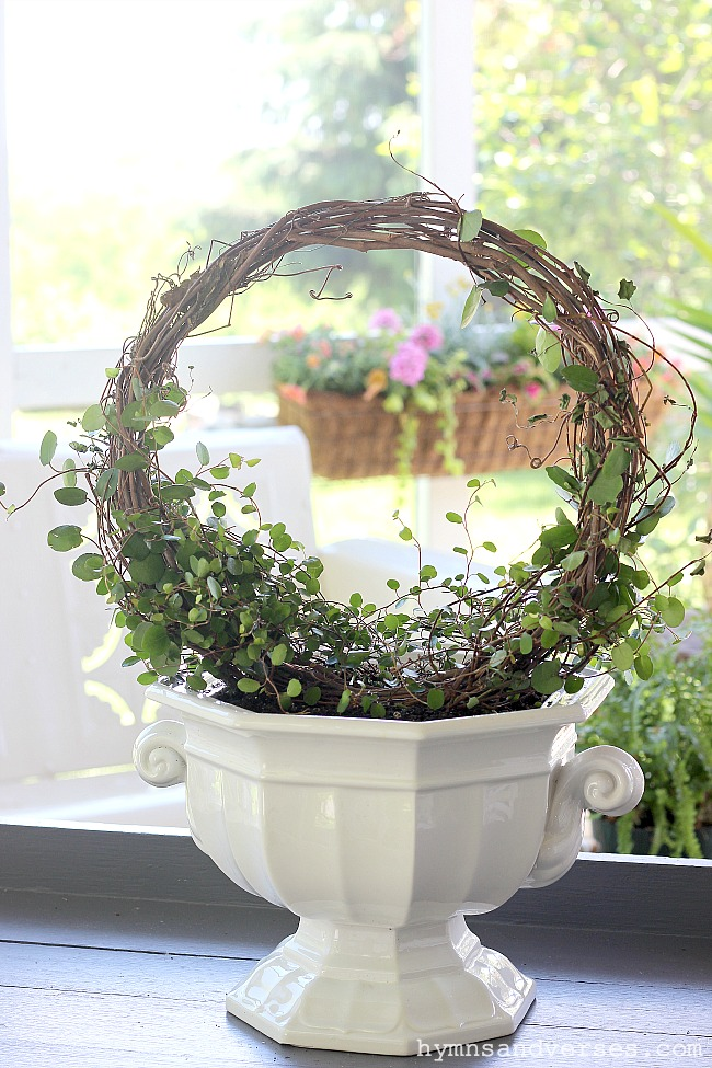 DIY Angel Vine Topiary