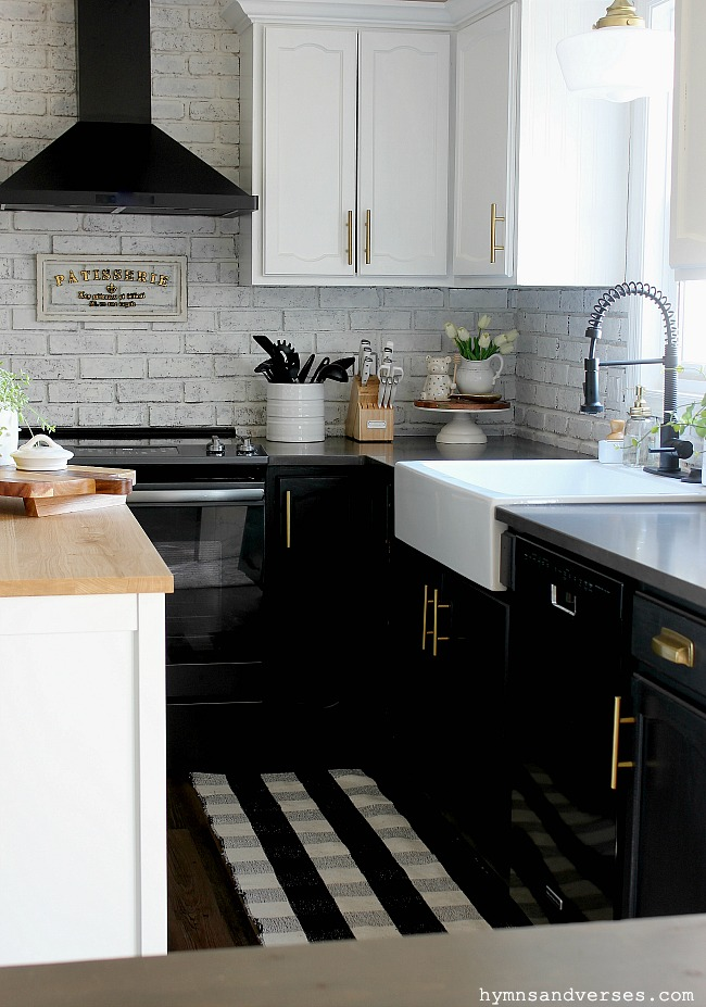 Black and White Modern Farmhouse Kitchen - Hymns and Verses
