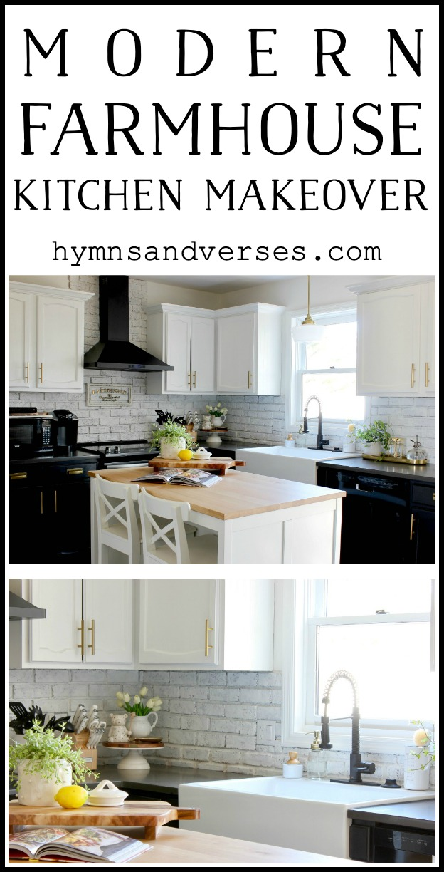Modern Farmhouse Kitchen Makeover - Hymns and Verses