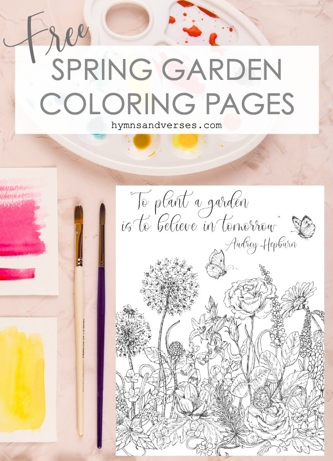Free Spring Garden Coloring Pages - Hymns and Verses Blog