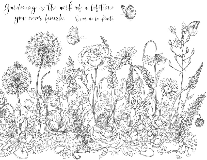 Gardening is the Work of a Lifetime You Never Finish Coloring Page - Hymns and Verses