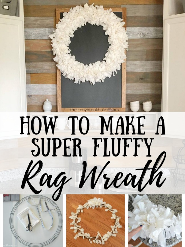 Fluffy Rag Wreath - The Stonybrook House