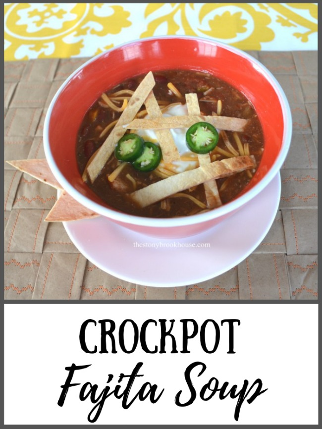 Crockpot Fajita Soup - The Stonybrook House