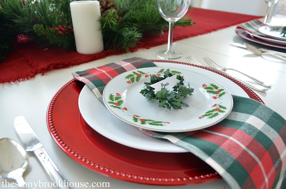 Easy Christmas Table - The Stonybrook House