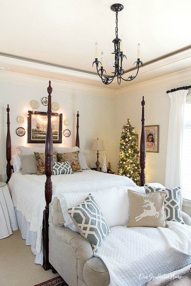 Christmas Master Bedroom - Our Southern Home