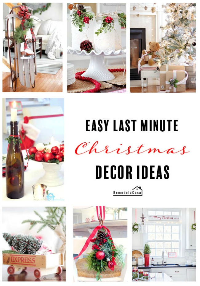 Easy Christmas Decor Ideas - RemodelaCasa